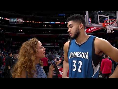"Karl-Anthony Towns Post Game Interview | ""Put Some Respeck On It"" 