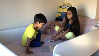 Twinkle and Ranveer playing Lego