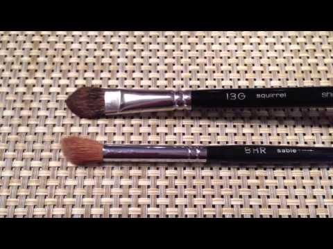 Part Four: Eyeshadow Brushes -- Blending and Crease Brushes (Chikuhodo, Suqqu, Shu Uemura)