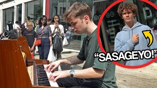 I played ATTACK ON TITAN openings on piano in public