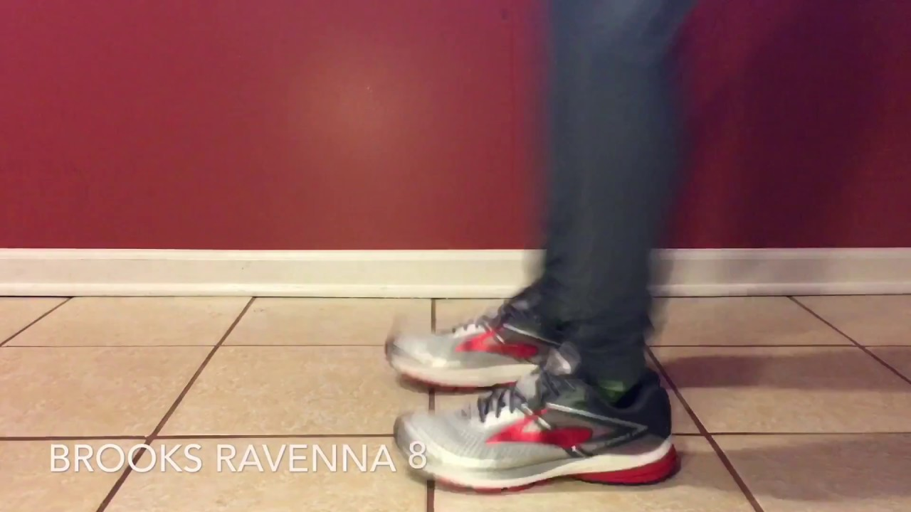 697e925480a ON FEET  Brooks Ravenna 8 - Silver Anthracite High Risk Red - YouTube