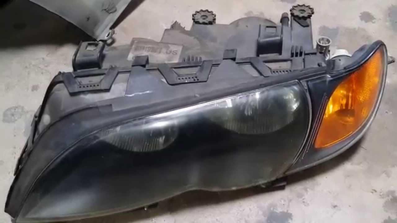 Bmw E46 330i 325i Headlight Removal Sedan Youtube
