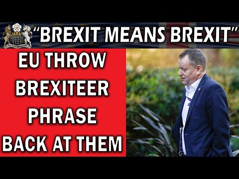 Brexit Talks End With Brexiteers' Own Phrase Used Against Them