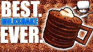 Milkshake in a cake - epic meal time
