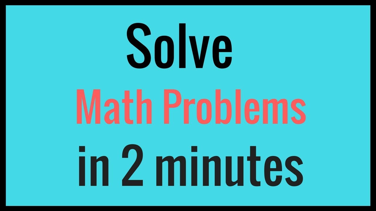 Math Problems Solver - How to Solve Math Problems in Hindi - YouTube