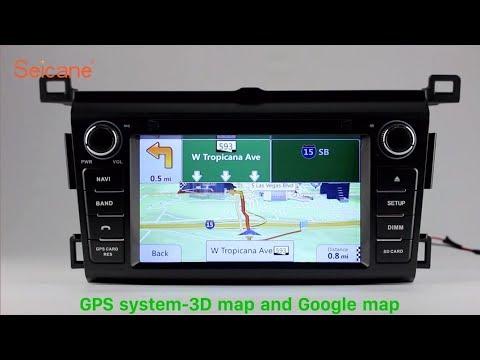 in dash dvd player 2013 2016 toyota rav4 radio gps navigation stereo support backup camera obd2. Black Bedroom Furniture Sets. Home Design Ideas