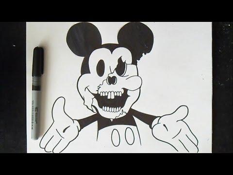 C mo dibujar un conejo graffiti doovi - Dessin mickey swag ...