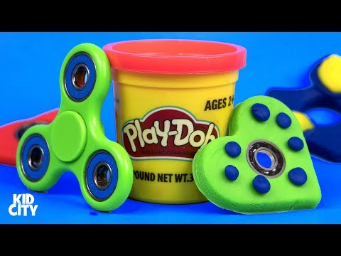 DIY Play-Doh Fidget Spinners / How to Make Fidget Spinner Toys for Kids