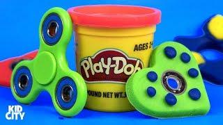 DIY Play-Doh Fidget Spinners / How to Make Fidget Spinner Toys for Kids