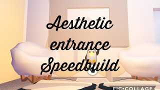 Cute Aestchetic Entrance Futuristic House Speed Build Part 1 Adopt Me Roblox Youtube