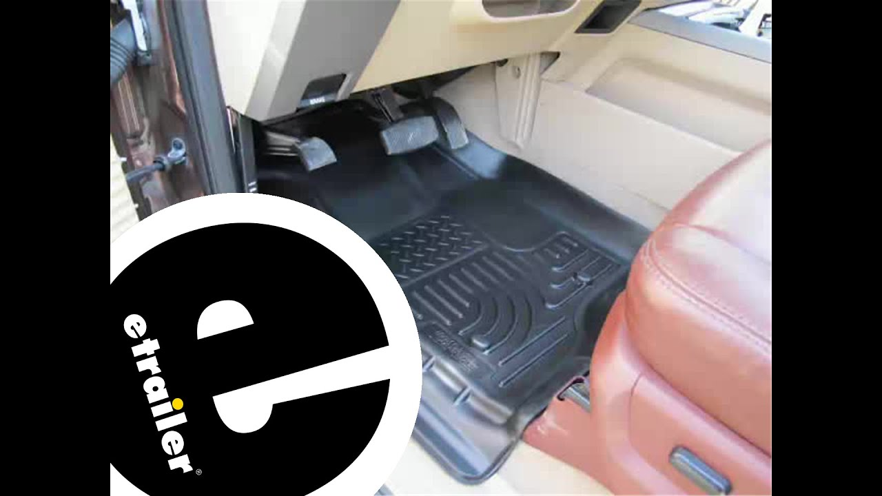 Review Of The Husky Liners WeatherBeater Front And Rear Floor Liners On A  2013 Ford F 350