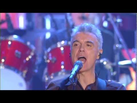 "Talking Heads Perform ""Burning Down the House"" at the 2002 Inductions"