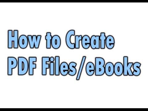 make ebook from pdf file