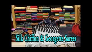 Silk Chiffon & Georgette Sarees / Just Rs.899 - 955 /- Only / Printed Collections