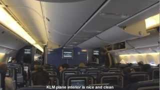 KLM flight from Bangkok to Amsterdam
