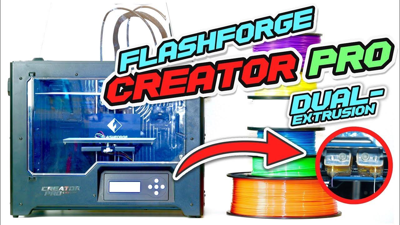 FLASHFORGE Creator PRO - DUAL-EXTRUSION + HIPS [Auflösbare Stützstruktur]