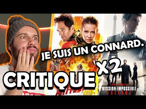 MISSION IMPOSSIBLE FALLOUT | ANT-MAN ET LA GUÊPE - CRITIQUE 🎬