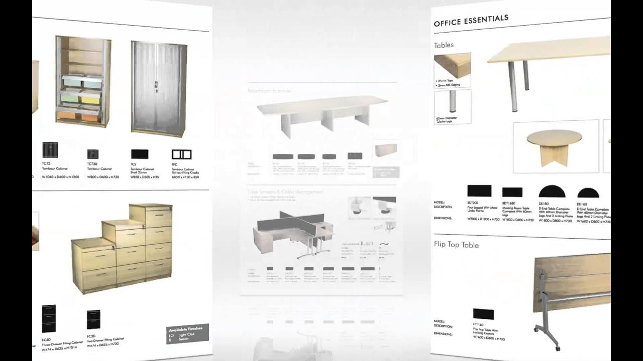 2014 azcom latest office furniture catalogue hd 1080p for Furniture catalogue