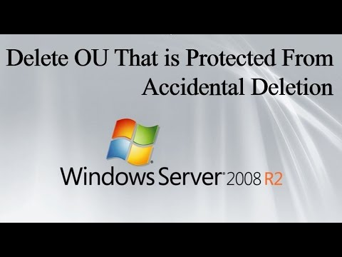 Delete OU That is Protected From Accidental Deletion