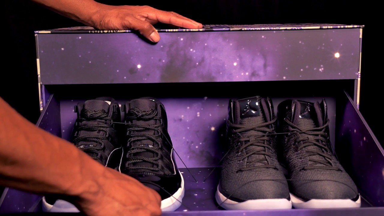 UNBOXING: A LIMITED Air Jordan 11 Space Jam 2016 Sneaker Package - YouTube