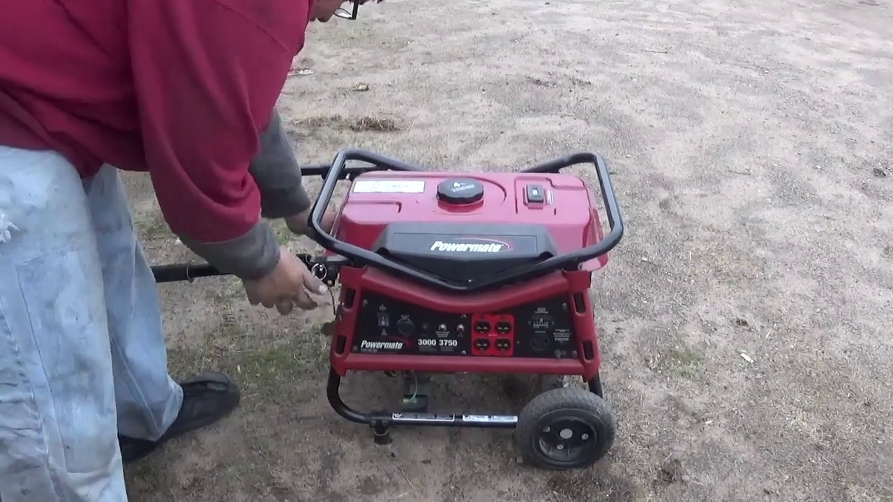powermate 3000 generator only will run on choke? fixed and oil chang