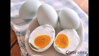 Home make salted eggs 。自製鹹蛋