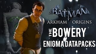 Batman Arkham Origins - The Bowery - All Enigma Datapacks / Extortion Files Locations