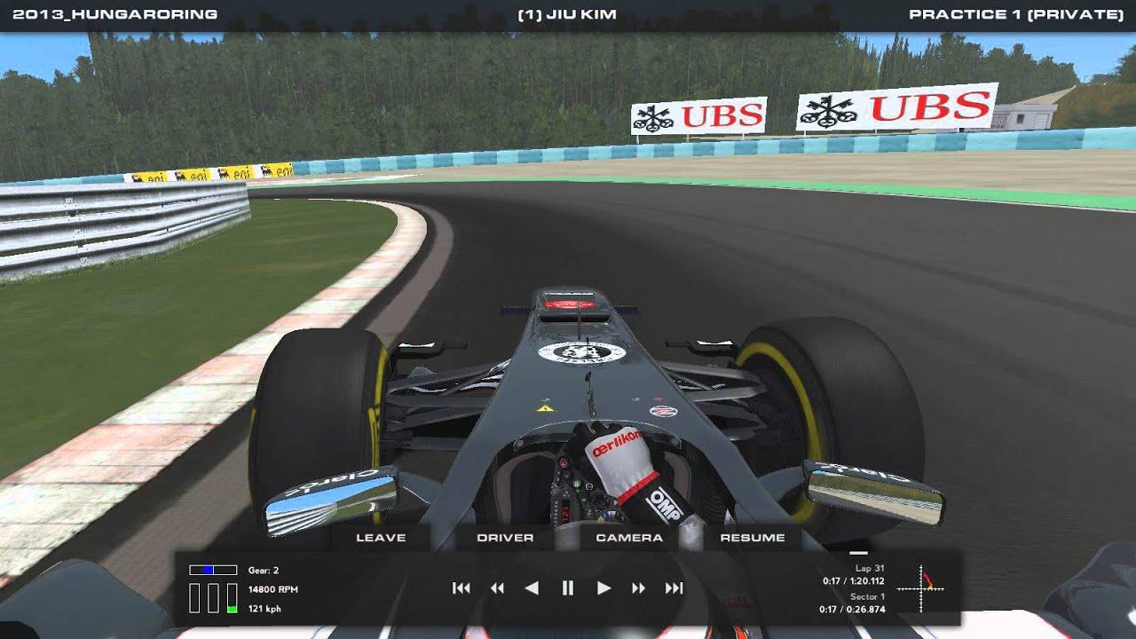 Rfactor2 : F1 2013   Hungaroring Circuit   Sauber