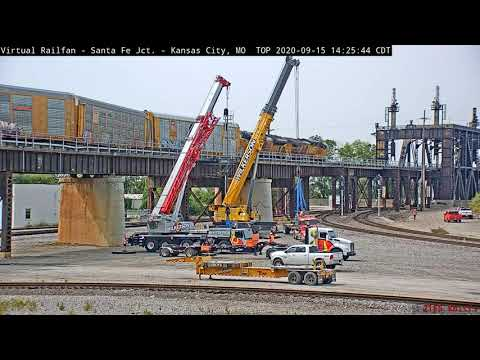 Time Lapse of Derailed Train Removal in Santa Fe Junction