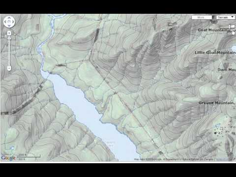 Shaded relief topographic map - Geokov Map Maker - YouTube