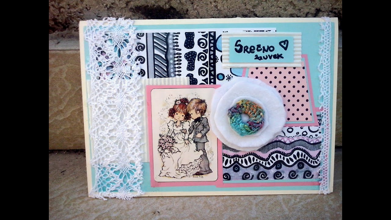 DIY : Wedding card making TUTORIAL - YouTube