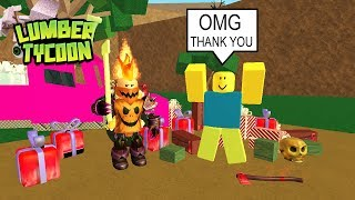 ROBLOX Lumber Tycoon 2 (Pro Helps Noob!) Ep.2 Pro Gets Rewarded 5MILL