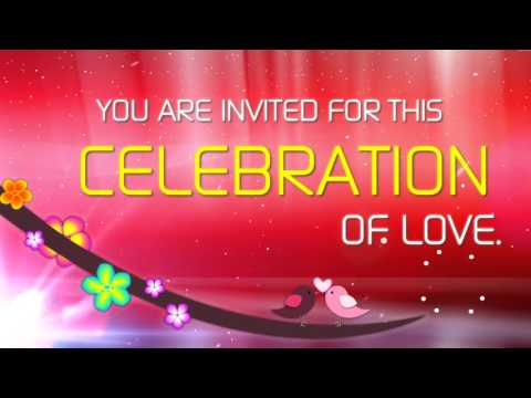Romantic Love Bird Wedding Invite