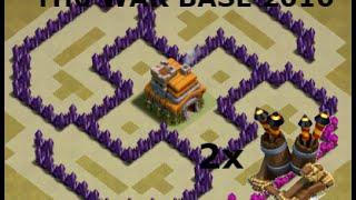 Clash of Clans TH6 War Base Design 2016!!!