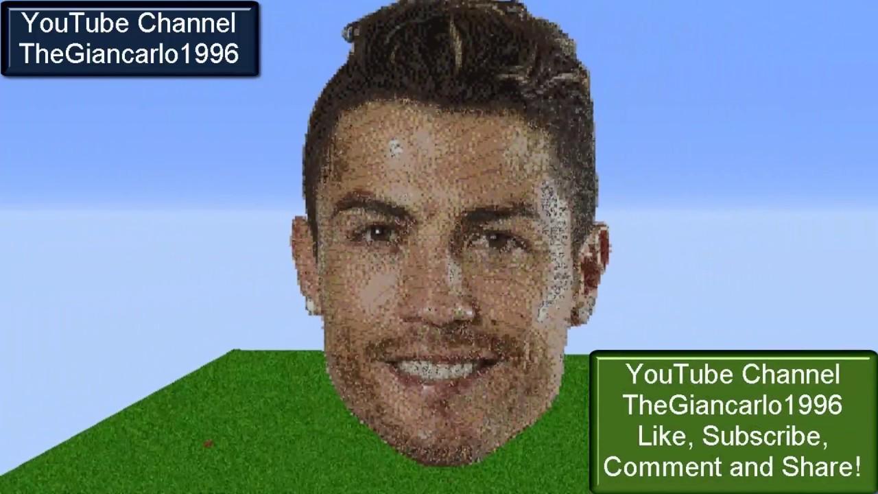 Minecraft Cristiano Ronaldo Pixel Art Time Lapse