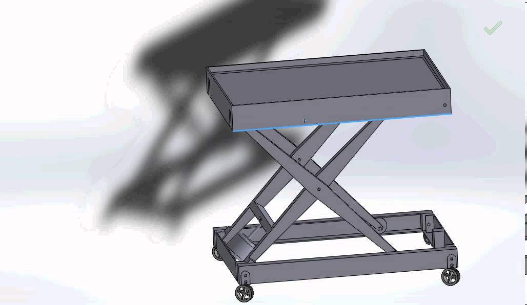 Single Stage Scissor Lift Model In Solidworks Youtube