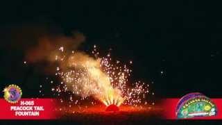 H-065 Peacock Tail Fountain - Phantom Fireworks