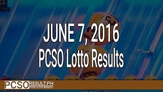 PCSO Lotto Results June 7, 2016 (6/49, 6/42, 6D, Swertres & EZ2)