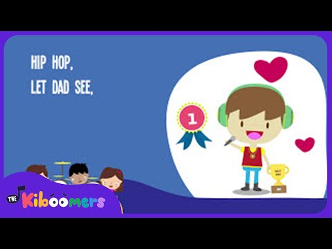 Hip Hop Father's Day Rock Song for Kids | Father's Day Songs for Children | The Kiboomers