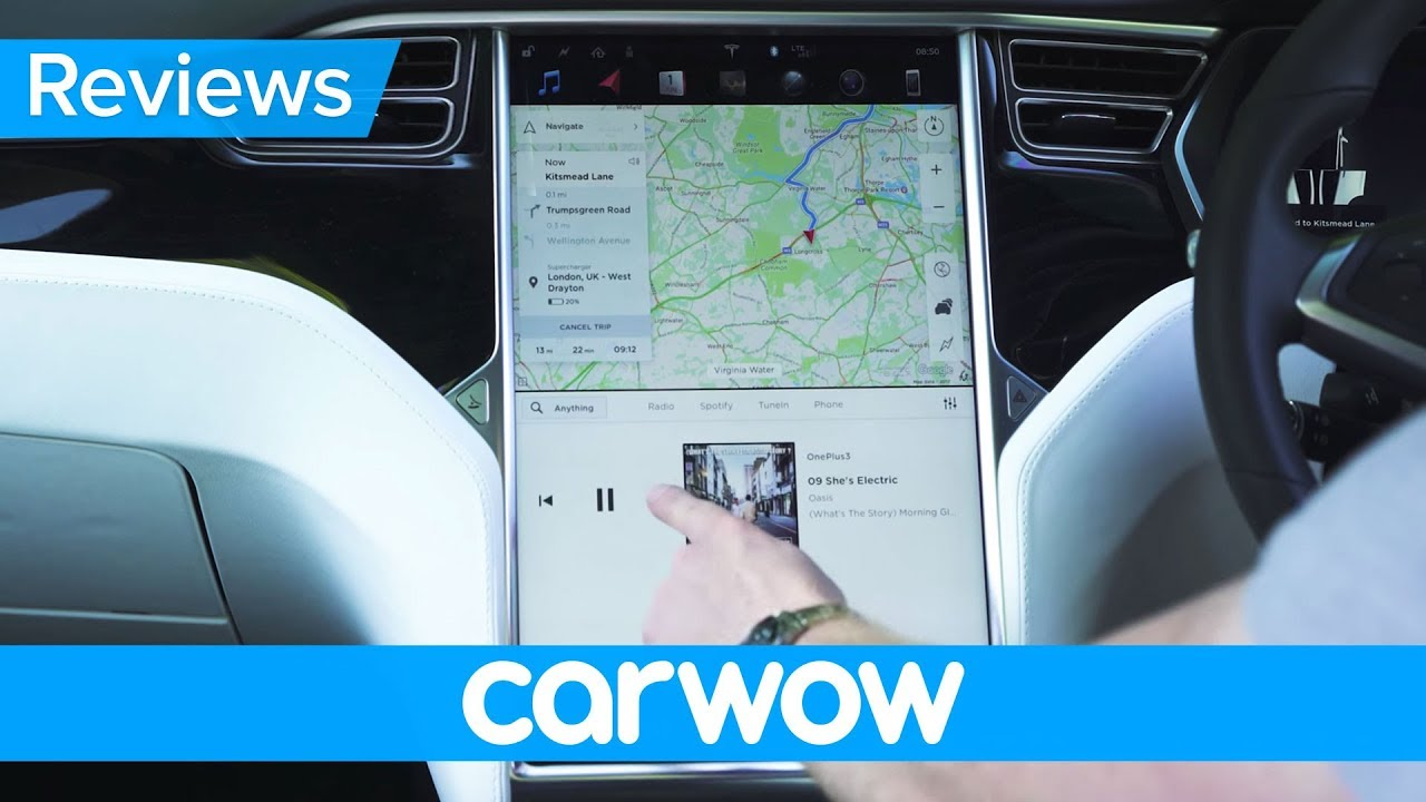 Tesla Model X 2018 Interior And Infotainment Review Mat Watson Cabin Fuse Box Display Reviews