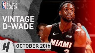 Dwyane Wade Full Highlights Heat vs Hornets 2018.10.20 - 21 Pts off the Bench!