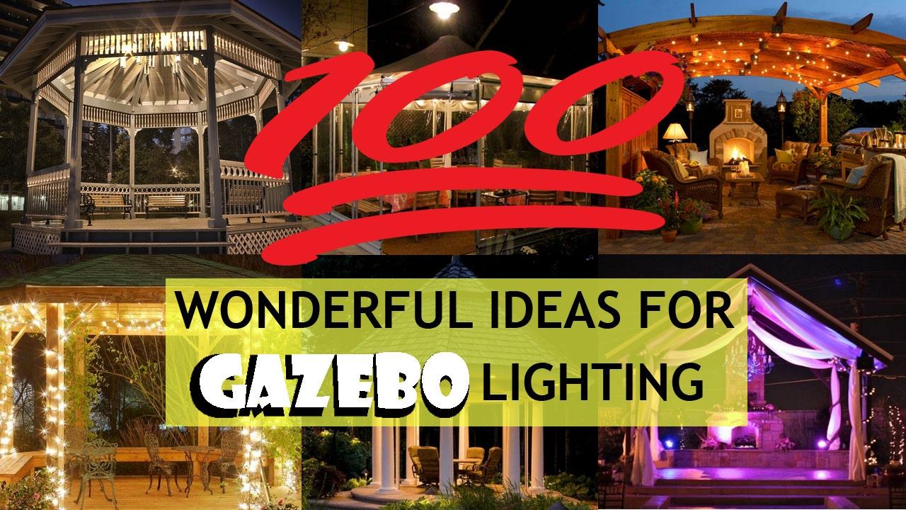 wonderful ideas of gazebo lighting designs outdoor lighting ideas
