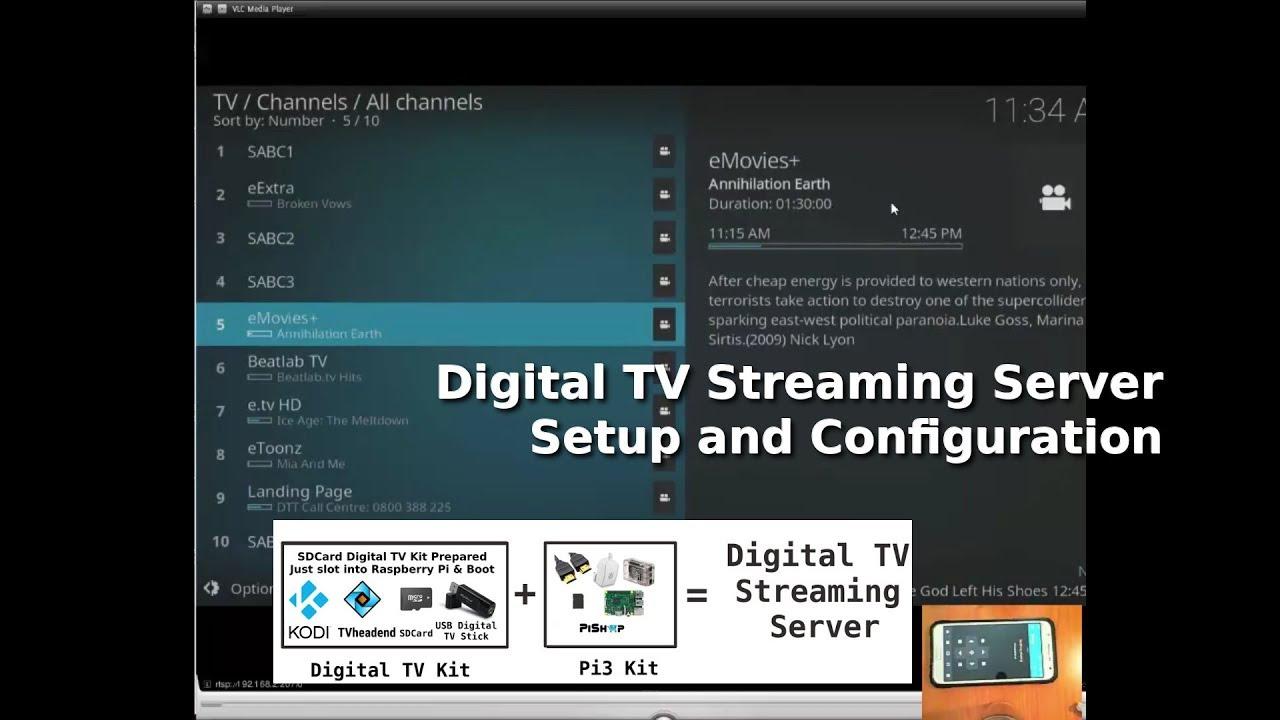 Raspberry Pi TVheadend & Kodi Server setup