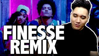 Bruno Mars - Finesse (Remix) [Feat. Cardi B] [Official Video] REACTION!!!