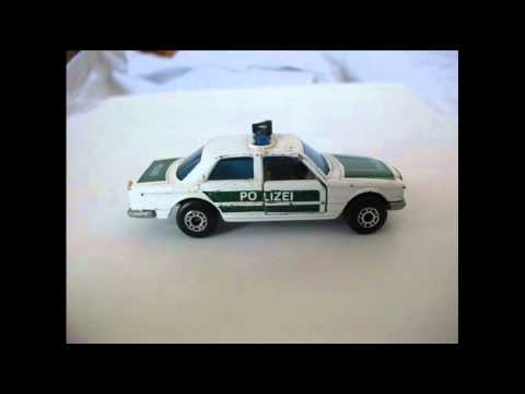 Matchbox Clic 1979 Mercedes 450 Sel Police Car