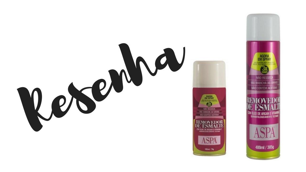 Resenha removedor de esmaltes spray aspa ebsa8 for Esmalte para baneras en spray