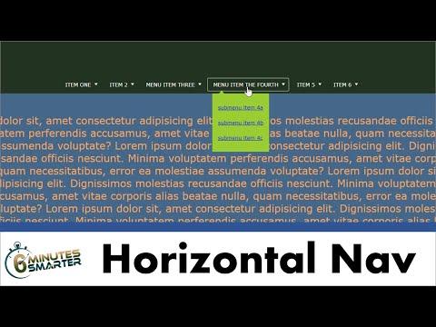 Create And Center A Horizontal Navigation Menu With Drop-down Sub-menus