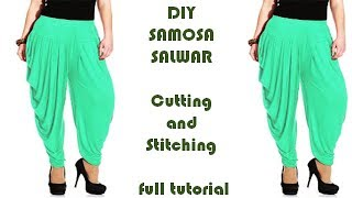 Download DIY Samosa Salwar cutting and Stitching Full Tutorial Mp3 and Videos