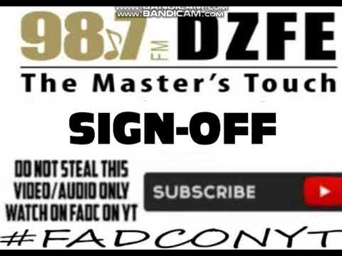 (DZFE-FM) 98.7 DZFE THE MASTERS TOUCH SIGN-OFF NOTICE