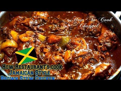How Restaurant Make Jamaican Style Brown Stew Chicken